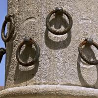 Particolare degli anelli per i cavalli sulla Colonna - Caba2011 - Bertinoro (FC)