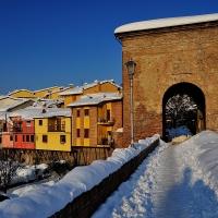 Nevicata 2012 vista dal ponte di S.Martino - Masarot - Cesena (FC)