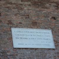 Rocca malatestiana - targa citazione Dante - Sivyb - Cesena (FC)