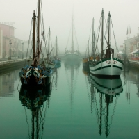 Trabaccoli nella nebbia - OldFain - Cesenatico (FC)