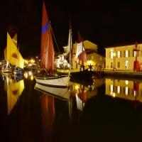 Porto canale di notte - Paola Focacci - Cesenatico (FC)