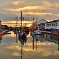 Barche storiche nel porto canale leonardesco - Paola Focacci - Cesenatico (FC)