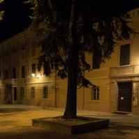 Biblioteca facciata - notturna 1 - Boschetti marco 65 - Cesena (FC)