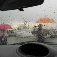 Porto canale, pioggia - Abdemont - Cesenatico (FC)