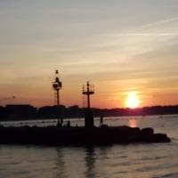 20160902 193300 tramonto sui fari di ponente 01 - Benedetta78 - Cesenatico (FC)