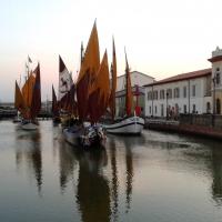 Navi canale tramonto - Elpo81 - Cesenatico (FC)