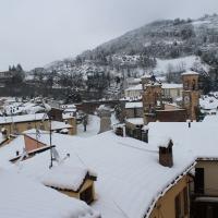Tribuna sotto la neve vista da Vicolo Aldo Celli 2 - Patrizia Diamante - Modigliana (FC)