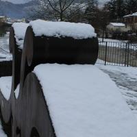Scultura ricoperta di neve- Santa Sofia - Chiara Dobro - Santa Sofia (FC)