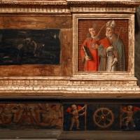 Marco palmezzano, madonna col bambino tra i ss. giovanni ev. e caterina d'a., 15410 ca. 04 stefano e mercuriale - Sailko - Forlì (FC)