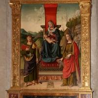 Marco palmezzano, madonna col bambino tra i ss. giovanni ev. e caterina d'a., 15410 ca. 01 - Sailko - Forlì (FC)