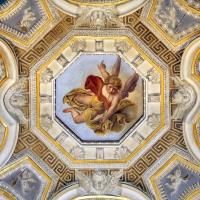 Livio Modigliani, soffitto della cappella di san mercuriale, storie di san girolamo, 1598 ca. 04 angelo con la tromba 2 - Sailko - Forlì (FC)