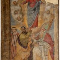 Forlì, san mercuriale, interno, cappella del ss. sacramento, ss. lorenzo, jacopo e mercuriale indicano l'assunta - Sailko - Forlì (FC)