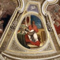 Livio Modigliani, soffitto della cappella di san mercuriale, storie di san girolamo, 1598 ca. 100 traduzione vulgata della bibbia - Sailko - Forlì (FC)