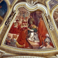 Livio Modigliani, soffitto della cappella di san mercuriale, storie di san girolamo, 1598 ca. 11 nomina a cardinale 2 - Sailko - Forlì (FC)