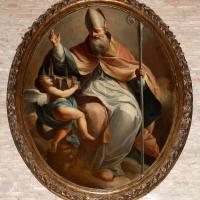 Giacomo zampa, san mercuriale riceve e benedice la città di forlì da un angelo - Sailko - Forlì (FC)