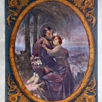 Forlì, san mercuriale, interno, cappella del ss. sacramento, san giuseppe con gesù adolescente, xx secolo - Sailko - Forlì (FC)