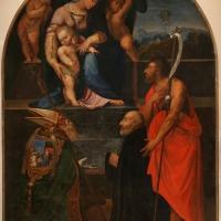 Scuola forlivese, san giovanni battista e asan mercuriale presentano un devoto alla madonna col bambino - Sailko - Forlì (FC)