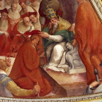 Livio Modigliani, soffitto della cappella di san mercuriale, storie di san girolamo, 1598 ca. 11 nomina a cardinale 1 - Sailko - Forlì (FC)