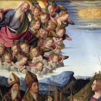 Marco palmezzano, immacolata coi ss. agostino, anselmo e stefano, e lunetta con resurrezione, 1509, 04 - Sailko - Forlì (FC)
