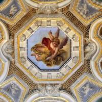 Livio Modigliani, soffitto della cappella di san mercuriale, storie di san girolamo, 1598 ca. 04 angelo con la tromba 1 - Sailko - Forlì (FC)