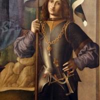 Marco palmezzano, madonna col bambino in trono tra i ss. biagio e valeriano e con angeli musicanti, 1520 ca. da s. biagio a forlì 04 - Sailko - Forlì (FC)