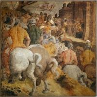 Livio agresti, storie eucaristiche e personaggi dell'antico testamento, incontro di abramo e melchidesch, dal duomo di forlì - Sailko - Forlì (FC)