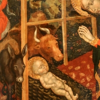 Federico tedesco, natività, 1420, 04 bue, asinello e bambino - Sailko - Forlì (FC)