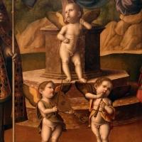 Marco palmezzano, madonna col bambino in trono tra i ss. biagio e valeriano e con angeli musicanti, 1520 ca. da s. biagio a forlì 03 - Sailko - Forlì (FC)