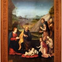 Francesco francia, adorazione del bambino con la sacra famiglia, due pastori e due angeli, 1510-14 ca., dall'oratorio del gesù a bologna 01 - Sailko - Forlì (FC)