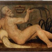 Francesco menzocchi, fiume phison, 1550-70 ca., dal soffitto della sala del consiglio (o degli angeli) del palazzo comunale di forì - Sailko - Forlì (FC)