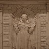 Antonio rossellino, sarcofago del beato marcolino amanni, 1458, da s. giacomo in s. domenico a forlì, santi domenicani 03 domenico - Sailko - Forlì (FC)