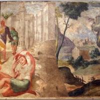 Pier paolo menzocchi, storie dell'antico testamento, dalla sal del coniglio (o degli angeli) nel palazzo comunale di forlì, 1574, lot invitato dagli angeli 01 - Sailko - Forlì (FC)
