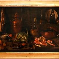 Carlo magini, natura morta con costolette d'agnello su tagliere, piatto di salsicce, cavolo e prosciutto appeso, 1750-1800 ca - Sailko - Forlì (FC)