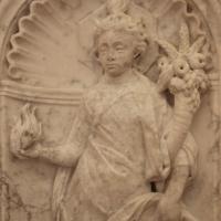 Antonio rossellino, sarcofago del beato marcolino amanni, 1458, da s. giacomo in s. domenico a forlì, virtù, carità 02 - Sailko - Forlì (FC)
