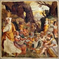 Livio agresti, storie eucaristiche e personaggi dell'antico testamento, caduta della manna, dal duomo di forlì - Sailko - Forlì (FC)