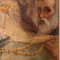 Pier paolo menzocchi, madonna del rosario, 1585 ca., da s. giacomo in s. domenico a forlì 07 possibile autoritratto - Sailko - Forlì (FC)