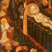 Federico tedesco, natività, 1420, 03 asino, angelo e simboli evangelisti - Sailko - Forlì (FC)