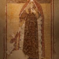 Scuola romagnola, madonna col bambino e s. antonio abate benedicente, 1275-1300 ca. poi 1390 ca., dalla facciata di s. antonio vecchio a forlì 02 - Sailko - Forlì (FC)