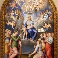 Luca longhi, madonna col bambino con s. caterina, s. orsola e le vergini, 1555, 01 - Sailko - Forlì (FC)
