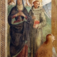 Marco palmezzano, crocifissione e santi, 1492, da s.m. della ripa a forlì, 03 madonna e san francesco - Sailko - Forlì (FC)