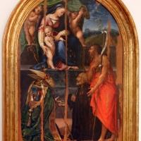 Girolamo marchesi da cotignola, madonna col bambino tra due angeli, santi e il committente (pala orsi), 1520-30 ca., da san mercuriale 01 - Sailko - Forlì (FC)