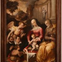 Pier paolo menzocchi, sacra famiglia con san giovannino, un angelo e i committenti, 01 - Sailko - Forlì (FC)