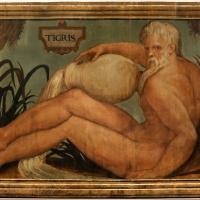 Francesco menzocchi, fiume tigri, 1550-70 ca., dal soffitto della sala del consiglio (o degli angeli) del palazzo comunale di forì - Sailko - Forlì (FC)
