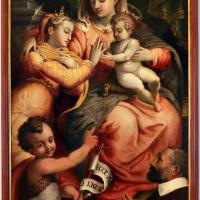 Sebastiano menzocchi, sposalizio di santa caterina alla presenz di san giovannino di un donatore, 1572, 01 - Sailko - Forlì (FC)