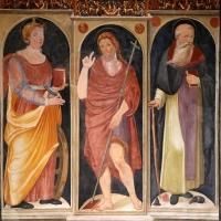 Scuola tosco-romagnola, annunciazione e i ss. caterina d'a., g. battista e antonio abate, 1547, 03 - Sailko - Galeata (FC)