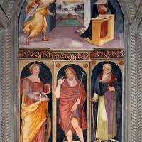 Scuola tosco-romagnola, annunciazione e i ss. caterina d'a., g. battista e antonio abate, 1547, 01 - Sailko - Galeata (FC)