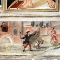 Scuola tosco-romagnola, annunciazione e i ss. caterina d'a., g. battista e antonio abate, 1547, 04 decollazione del battista - Sailko - Galeata (FC)