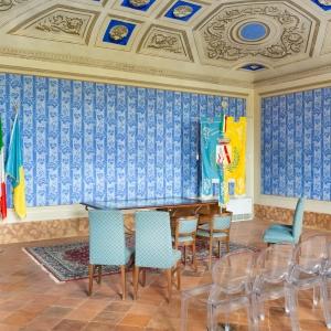 Villa Torlonia - Palazzo Nobile - la Sala Blu foto di: |Archivio Comune di San Mauro Pascoli| - Comune di San Mauro Pascoli