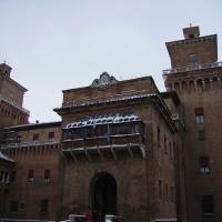 Balcone coperto del Castello Estense innevato - Tommaso Trombetta - Ferrara (FE)