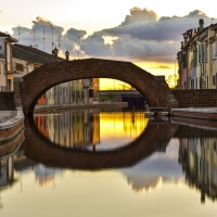 Tramonto riflesso a Comacchio - Nbisi - Comacchio (FE)